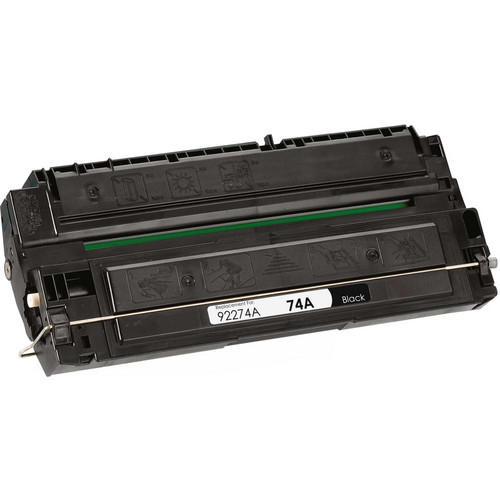 Remanufactured replacement for HP 74A (92274A) black laser toner cartridge