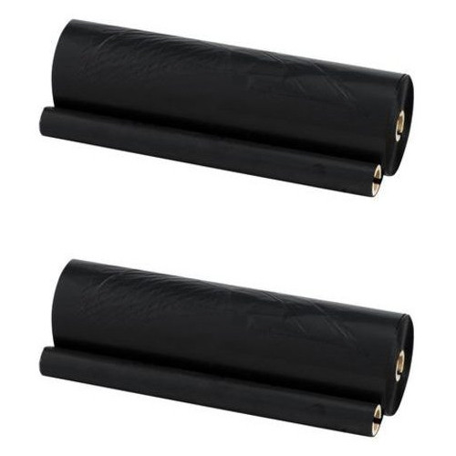 Twin Pack - Compatible replacement for Brother PC-102 black ribbon refill rolls