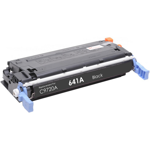 Remanufactured replacement for HP 641A (C9720A) black laser toner cartridge