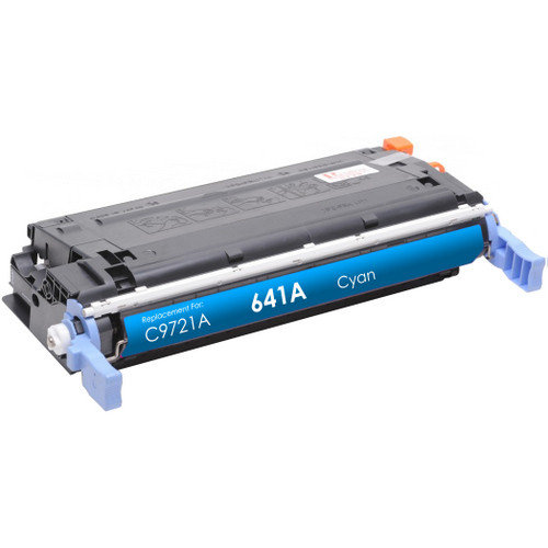 Remanufactured replacement for HP 641A (C9721A) cyan laser toner cartridge