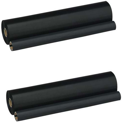 Twin Pack - Compatible black ribbon refill rolls for Brother PC-202RF