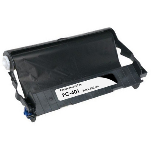 Compatible Brother PC-401 fax cartridge with ribbon roll