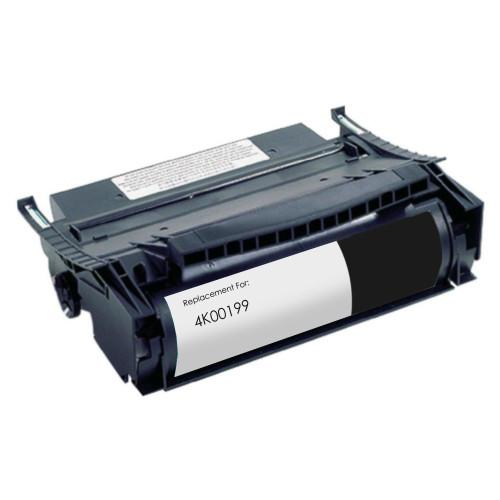 emanufactured replacement for Lexmark 4K00199 black toner cartridge