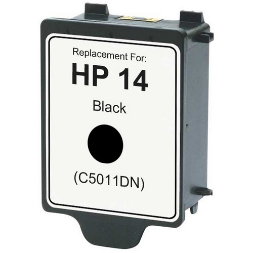 Remanufactured replacement for HP 14 (C5011DN) black ink cartridge