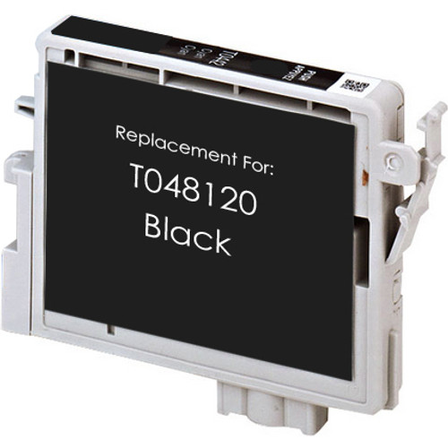 Remanufactured replacement for Epson T048120 black ink cartridge