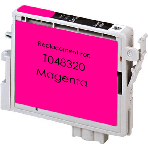Remanufactured replacement for Epson T048320 magenta ink cartridge