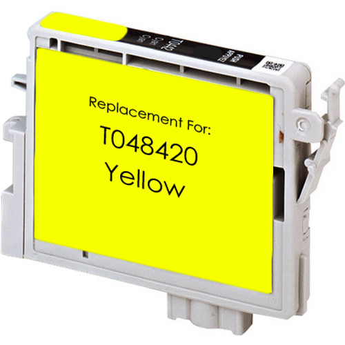 Remanufactured replacement for Epson T048420 yellow ink cartridge