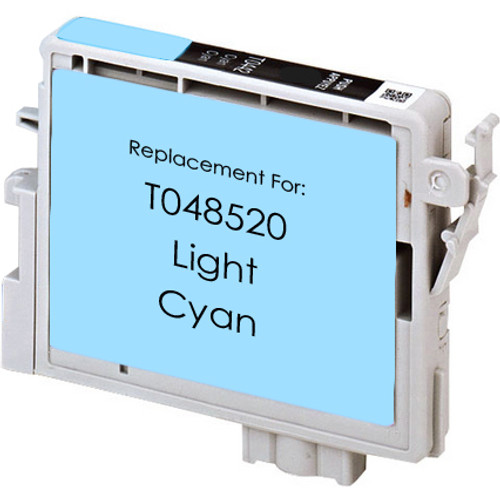 Remanufactured replacement for Epson T048520 light cyan ink cartridge