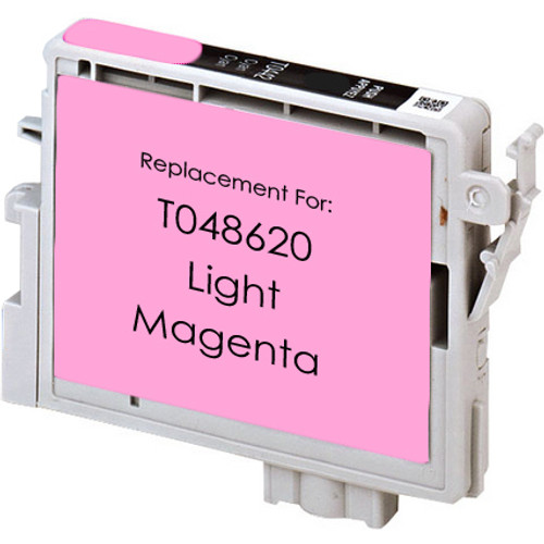 Remanufactured replacement for Epson T048620 light magenta ink cartridge