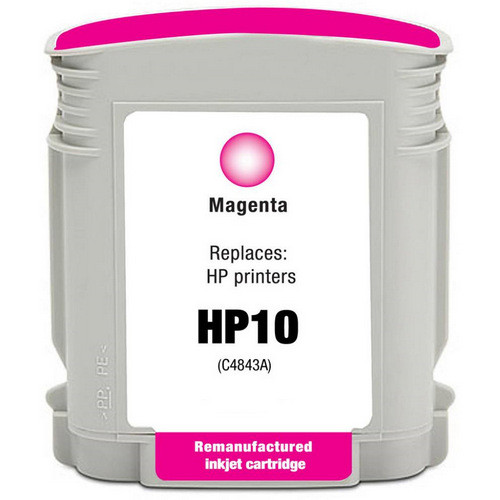 Remanufactured replacement for HP 10 (C4843A) magenta ink cartridge