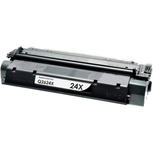 Remanufactured replacement for HP 24X (Q2624X) black laser toner cartridge