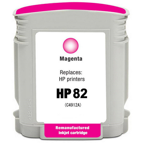 Remanufactured replacement for HP 82 (C4912A) magenta ink cartridge