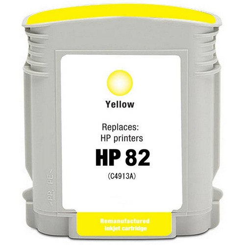 Remanufactured replacement for HP 82 (C4913A) yellow ink cartridge