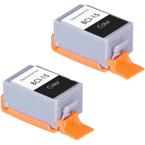 Canon BCI-15 (8191A003) color ink cartridges - 2 Pack