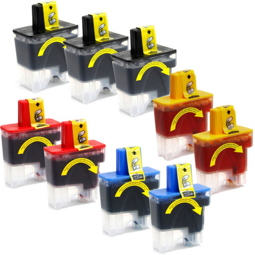 9 Pack - Compatible replacement for Brother LC41 series ink cartridges