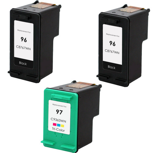 3 Pack - Remanufactured replacement for HP 96 and 97 series ink cartridges