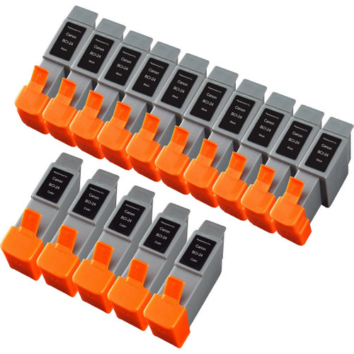 15 Pack - Compatible replacement for Canon BCI-24 series ink cartridges
