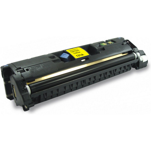 Remanufactured replacement for HP 121A (C9702A) yellow laser toner cartridge