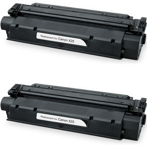 Twin Pack - Compatible replacement for Canon X25 (8489A001AA) black laser toner cartridge