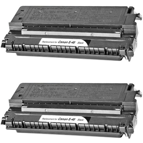 Twin Pack - Remanufactured replacement for Canon E-40 (1491A002CA) black laser toner cartridge