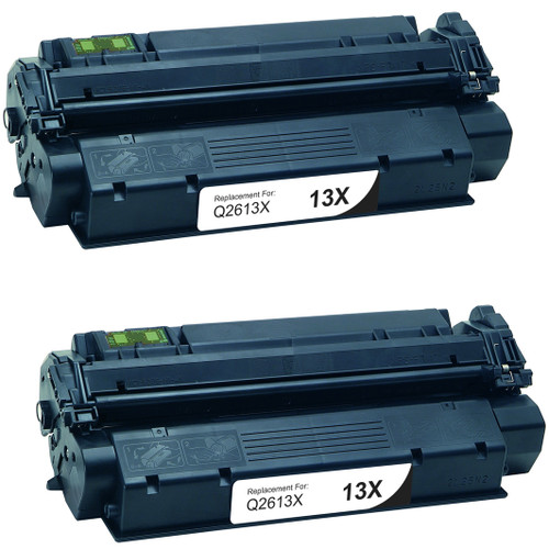 Twin Pack - Remanufactured replacement for HP 13X (Q2613X) black laser toner cartridge
