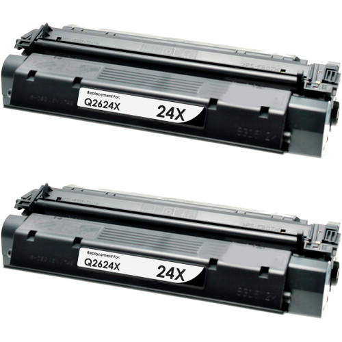 Twin Pack - Remanufactured replacement for HP 24X (Q2624X) black laser toner cartridge
