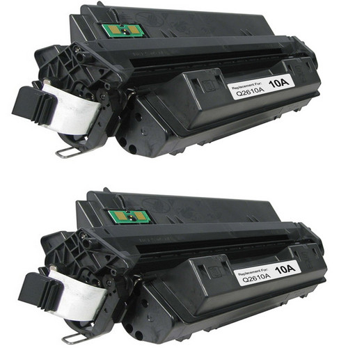 Twin Pack - Remanufactured replacement for HP 10A (Q2610A) black laser toner cartridge
