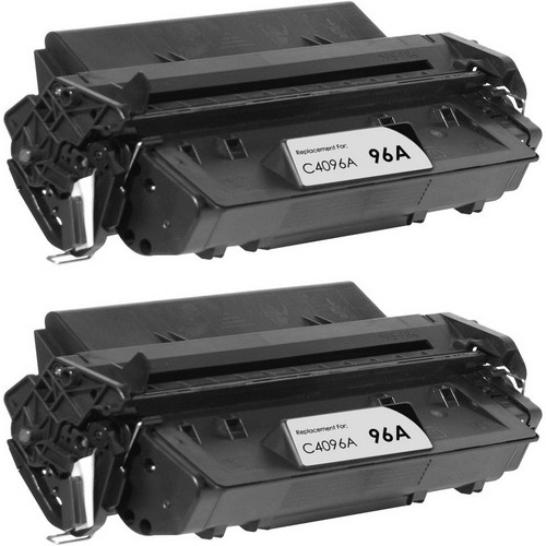 Twin Pack - Remanufactured replacement for HP 96A (C4096A) black laser toner cartridge