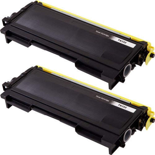 Twin Pack - Compatible replacement for Brother TN350 black laser toner cartridge