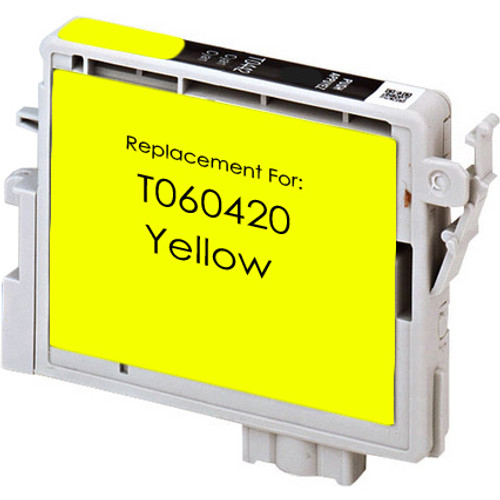 Remanufactured replacement for Epson T060420 yellow ink cartridge