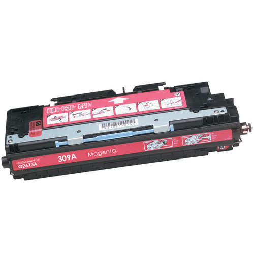 Remanufactured replacement for HP 309A (Q2673A) magenta laser toner cartridge