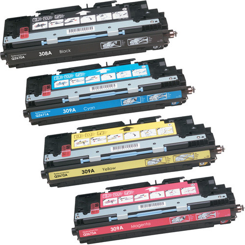4 Pack - Remanufactured replacement for HP 308A and 309A series laser toner cartridges
