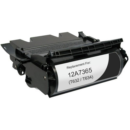 Extra high yield remanufactured replacement for Lexmark 12A7365 (T632, T634)