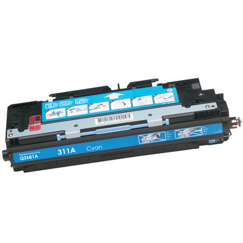 Compatible replacement for HP 311A (Q2681A) cyan laser toner cartridge