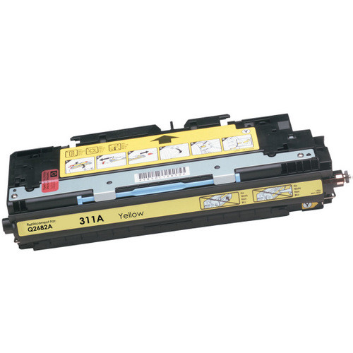Compatible replacement for HP 311A (Q2682A) yellow laser toner cartridge