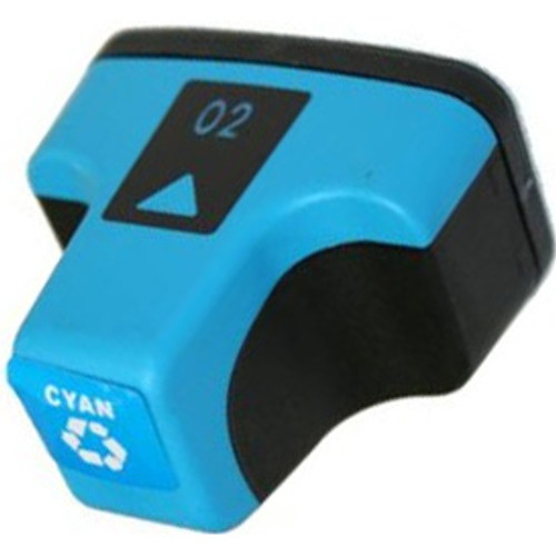Remanufactured replacement for HP 02C (C8771WN) cyan ink cartridge