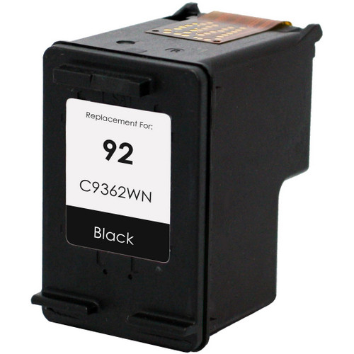 Remanufactured replacement for HP 92 (C9362WN) black ink cartridge