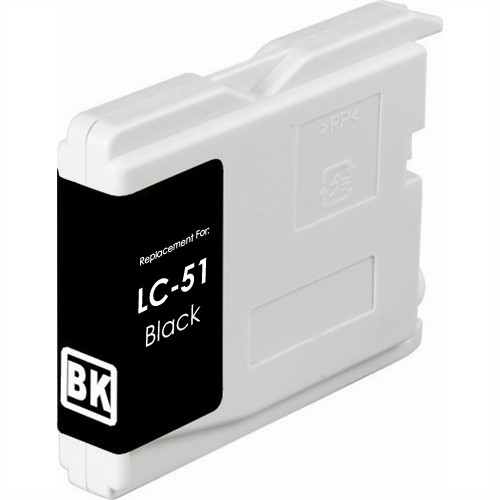 Compatible replacement for Brother LC51Bk black ink cartridge