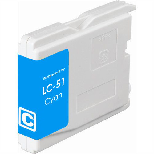 Compatible replacement for Brother LC51C cyan ink cartridge