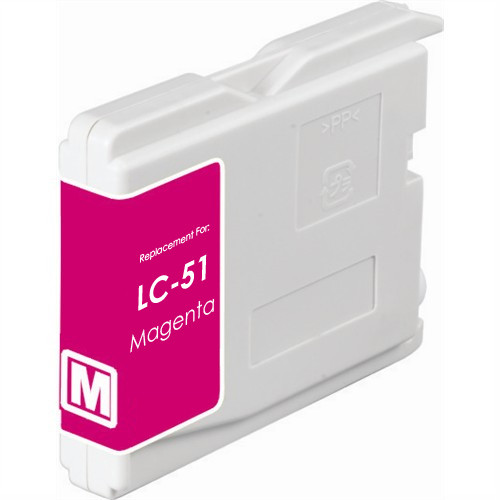 Compatible replacement for Brother LC51M magenta ink cartridge