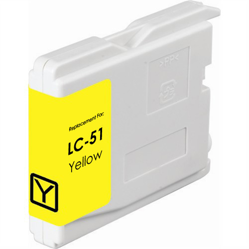 Compatible replacement for Brother LC51Y yellow ink cartridge