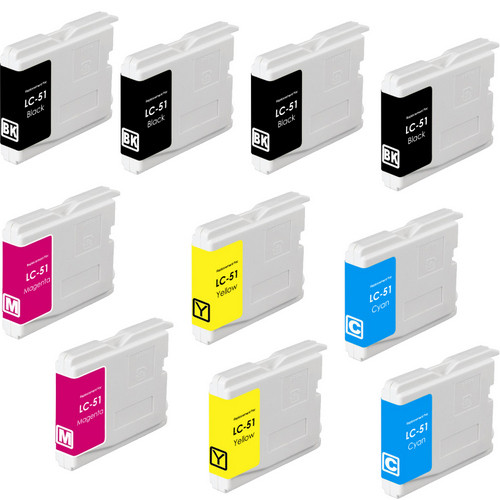 10 Pack - Compatible replacement for Brother LC51 ink cartridges