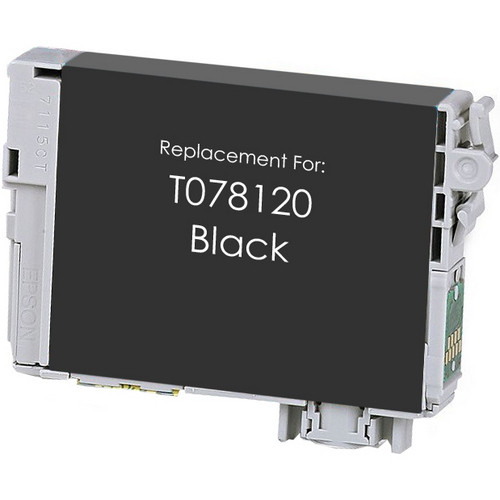 Remanufactured replacement for Epson T078120 black ink cartridge