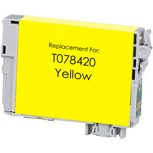 Remanufactured replacement for Epson T078420 yellow ink cartridge