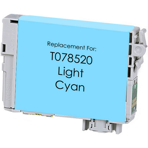 Remanufactured replacement for Epson T078520 light cyan ink cartridge