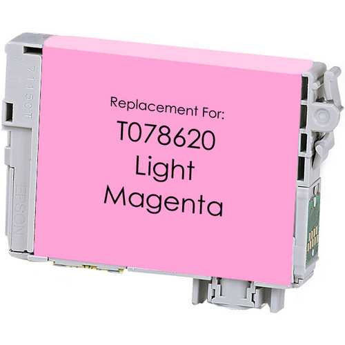 Remanufactured replacement for Epson T078620 light magenta ink cartridge