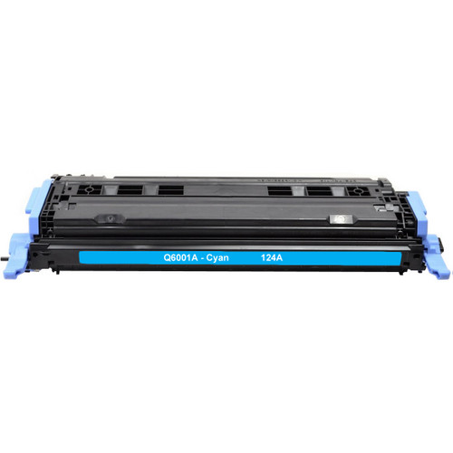 Remanufactured replacement for HP 124A (Q6001A) cyan laser toner cartridge