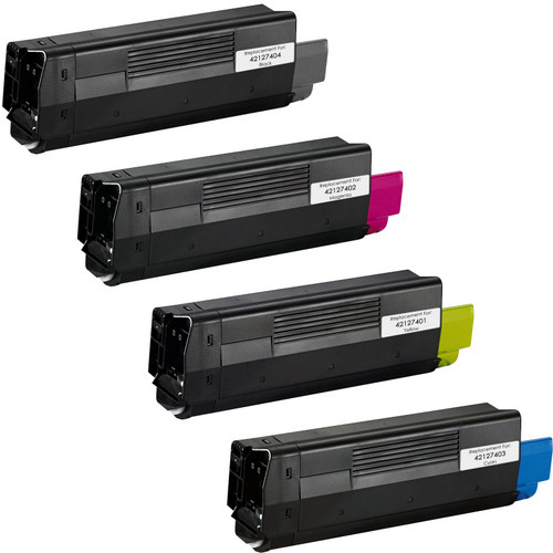 Okidata 42127401 series laser toner cartridges black and color set