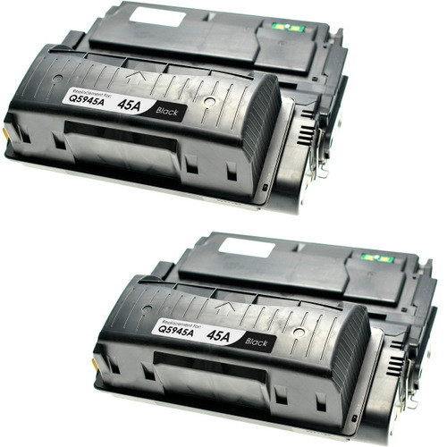 Twin Pack - Compatible replacement for HP 45A (Q5945A) black laser toner cartridge