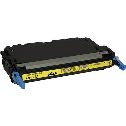 Remanufactured replacement for HP 502A (Q6472A) yellow laser toner cartridge